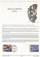 DOCUMENT 1986 SKIBET DE MAURICE ESTEVE - Documents Of Postal Services