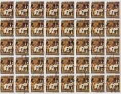 Egypt 2002 Sheet 40 V Used Definitives 20th Dynasty  Egyptian Art - Egypt
