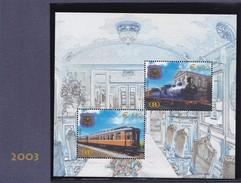 2003 Belgien, Eisenbahnmarken TRV 32/35, MNH **, - Bahnwesen