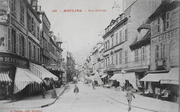 MOULINS → Rue D'Allier Avec Les Passants Anno1906 - Moulins