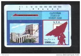 SYRIA  ( 1000 UNITS )  USED  PHONECARD - Syria