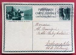 SVIZZERA CARTOLINA POSTALE  CON VEDUTA MONTREUX   VIAGGIATA - Svizzera
