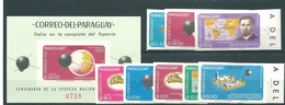 Paraguay, 1966, Space Exploration, 8 Stamps+ Block Imperforated