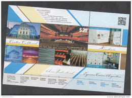 ARGENTINA, 2015, MNH, ARCHITECTURE, BUILDINGS, KIRCHNER CULTURAL CENTRE, GLOSSY SURFACE, S/SHEET - Architecture