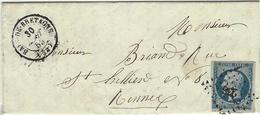 1853 -lettre De BAIN-DE-BRETAGNE ( Ille Et Vilaine ) Cad T15 Affr. N°10 ( 4 Marges )  Oblit. Pc 238 - Poststempel (Briefe)