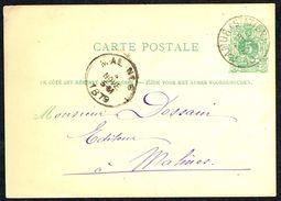 """EP N° 13 A - Circulé - Circulated - Gelaufen - Obl. """" NAMUR - 3 NOV 1879 """". - Enteros Postales"""