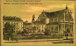 1917,Warschau, Krakauer Vorstadt, Mickiewic's Denkmal, Als Deutsche Feldpost Gel., Stempel Bahnschutz *Kommando*, Straße - Pologne