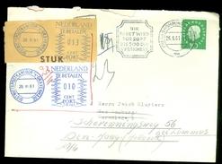 DEUTSCHLAND BUNDESPOST BRIEFOMSLAG UIT 1961 Van BAD HOMBURG Naar DEN HAAG MET PORT BELAST  (10.616) - [7] West-Duitsland