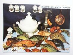 Postcard Recette De La Bouillabaisse My Ref B2517 - Recipes (cooking)