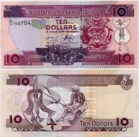 SOLOMON IS.         10 Dollars       P-27       ND (2004)       UNC  [ Sign. 8 ] - Salomons