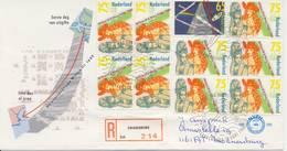E255 - Met Adres En Aantekenstrookje Zwanenburg / Open Klep - FDC