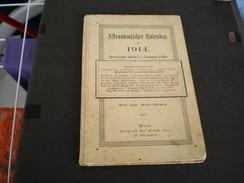 Astronomischer Kalendar 1914 Wien  150 Pages - Boeken, Tijdschriften, Stripverhalen