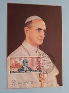 PAULUS PP VI ( KIGALI - 28 Fev 1966 ) ! - Rwanda