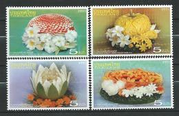 Thailand 2007 Carved Fruit And Vegetables.stamps.MNH - Thaïlande