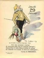 030317 - Feuille Extraite De L'ALBUM REVUE Des OPINIONS CALENDRIER 1914 éphéméride - CYRANO DE BERGERAC Ange - Old Paper
