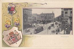 Berlin - Alexanderplatz - Prägelitho Mit Tram      (A-23-110220) - Ohne Zuordnung