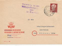 GROSSENHAIN - 1951 - Vorwärts Zu Den Weltfestspielen 1951 In Berlin  -  Propaganda - [6] République Démocratique
