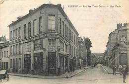 -dpts Div.-ref- MM704- Seine Maritime - Elbeuf -rue Des Trois Cornets Et Rue Pavee- Cafe Restaurant Hotel Boivin -hotels - Elbeuf