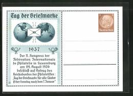 CPA Entier Postal, Tag Der Briefmarke 1937, Reichsbund Der Philatelisten - Briefmarken (Abbildungen)