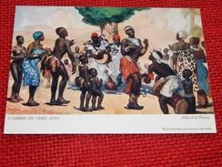 """CONGO BELGE - """" L'arbre Du Chef Kivu """", Carte Illustrée Par Allard L'Olivier Pour L'Aide Médicale Aux Missions Du Congo - Other Illustrators"""