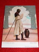 """CONGO BELGE - """" Commerçant Kivu """", Carte Illustrée Par Allard L'Olivier Pour L'Aide Médicale Aux Missions Du Congo - Autres Illustrateurs"""