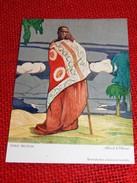"""CONGO BELGE - """" Chef Mutusi """", Carte Illustrée Par Allard L'Olivier Pour L'Aide Médicale Aux Missions Du Congo - Other Illustrators"""