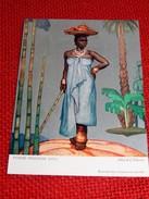 """CONGO BELGE - """" Femme Indigène Kivu """", Carte Illustrée Par Allard L'Olivier Pour L'Aide Médicale Aux Missions Du Congo - Other Illustrators"""