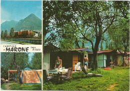 T3211 Marone (Brescia) - Lago D'Iseo - Camping - Panorama Vedute Multipla / Non Viaggiata - Italia