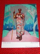 """CONGO BELGE - """" Femme Mutusi """", Carte Illustrée Par Allard L'Olivier Pour L'Aide Médicale Aux Missions Du Congo - Autres Illustrateurs"""
