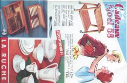 Catalogue/Dépliant / Magasin/ La RUCHE/Cadeaux De Noël/Vaisselle-Montres-Linge-etc/AMIENS/1958      CAT161 - Publicités