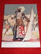 """CONGO BELGE - """" Danseurs Watusi """", Carte Illustrée Par Allard L'Olivier Pour L'Aide Médicale Aux Missions Du Congo - Autres Illustrateurs"""