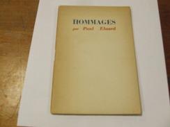 """Signature De Paul Eluard Recueil De Poesie """"HOMMAGES"""" Par P. Eluard 1950 - Auteurs Français"""
