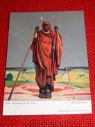 """CONGO BELGE - """" Chef Agriculteur Kivu """", Carte Illustrée Par Allard L'Olivier Pour L'Aide Médicale Aux Missions Du Congo - Autres Illustrateurs"""