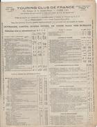 Catalogue/Dépliant / Touring Club De France / Objets Publicitaires TCF/ /1925      CAT162 - Werbung