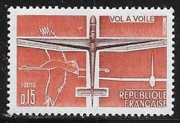 N° 1340   FRANCE  -  NEUF -  AVIATION LEGERE VOL  A VOILE   -  1962 - Francia