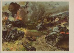 Postkarte Panzer Und Stuka Im Angriff Nach Einem Original Von V. Mundorff - 1939-45