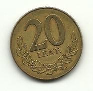 2000 - Albania 20 Leke, - Albania