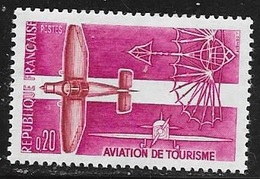 N° 1341   FRANCE  -  NEUF -  AVIATION LEGERE TOURISME   -  1962 - Francia