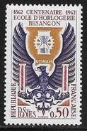N° 1342   FRANCE  -  NEUF -  CENTENAIRE ECOLE HORLOGERIE BESANCON   -  1962 - Francia