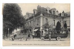 BLOIS  (cpa 41)  Hôtel De La Gare - Départ Des Auto-Cars De La Cie D'Orléans  -    - L 1 - Blois