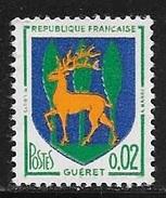 N° 1351 B   FRANCE  -  NEUF -  ARMOIRIE GUERET  -  1962 - France