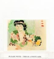 Postcard - Art - Henri Matisse - Woman In A Kimona C1906 - Very Good - Cartoline