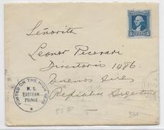 USA - 1932 - ENVELOPPE POSTEE En MER à BORD Du MS EASTERN PRINCE De La DELEGATION OLYMPIQUE ARGENTINE => BUENOS AIRES - Postal History
