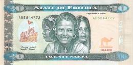 ERYTHREE   20 Nakfa   24/5/2012   P. New   UNC - Erythrée