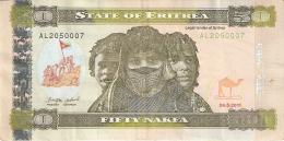 ERYTHREE   50 Nakfa   24/5/2011   P. 9 - Eritrea