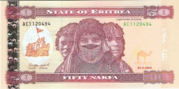 ERYTHREE   50 Nakfa   24/5/2004   P. 7   UNC - Eritrea