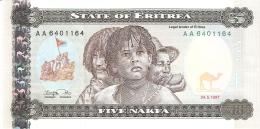 ERYTHREE   5 Nakfa   24/5/1997   P. 2   UNC - Erythrée