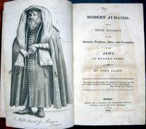MODERN JUDAISM  BRIEF ACCOUNT OF OPINIONS TRADITIONS RITES BY JOHN ALLEN LONDON 1816 JUDAICA  SYNAGOGUA HEBRAICA - Books, Magazines, Comics