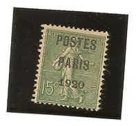 France Préoblitéré N° 25 (oblitéré ) Premier Choix - Préoblitérés