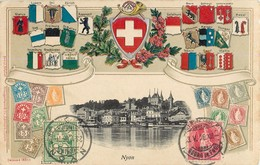 NYON BANNIERE DRAPEAU VAUD SUISSE SWITZERLAND - VD Vaud
